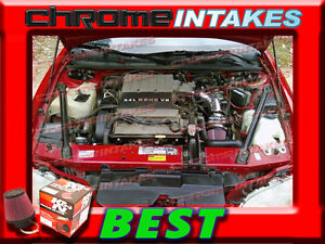 1994 1995 94 95 PONTIAC GRAND PRIX 3.4L V6 AIR INTAKE KIT Black Red
