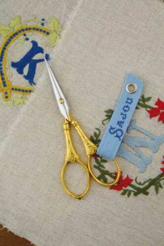 """Sajou/""""Flowers /& Pearls/""""French Embroidery Scissors Collectors /& Fine Needlework"""