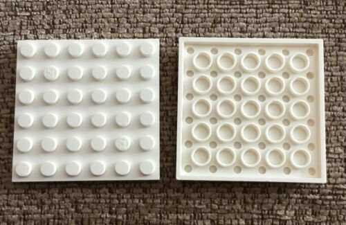 3958 4144012 White Plate 6x6 Qty:2 Lego Spares