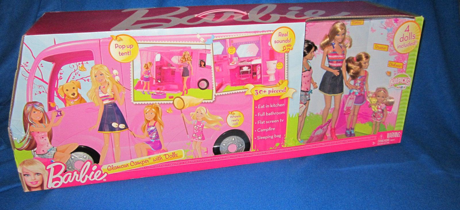 Muñecas Barbie Glamour Camper con 4 Nuevo Sellado difícil de encontrar
