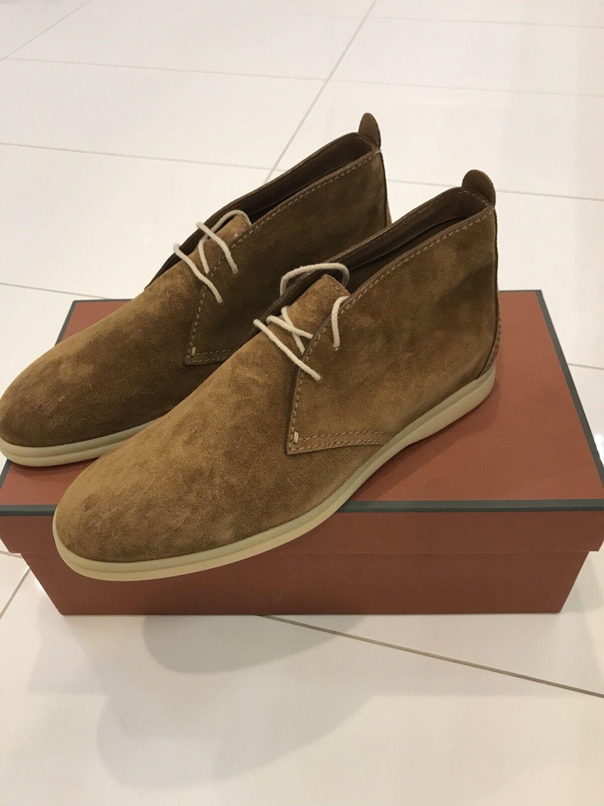 Loro Piana botas con cordones para hombre, Color Camello, al por menor , Totalmente Nuevo