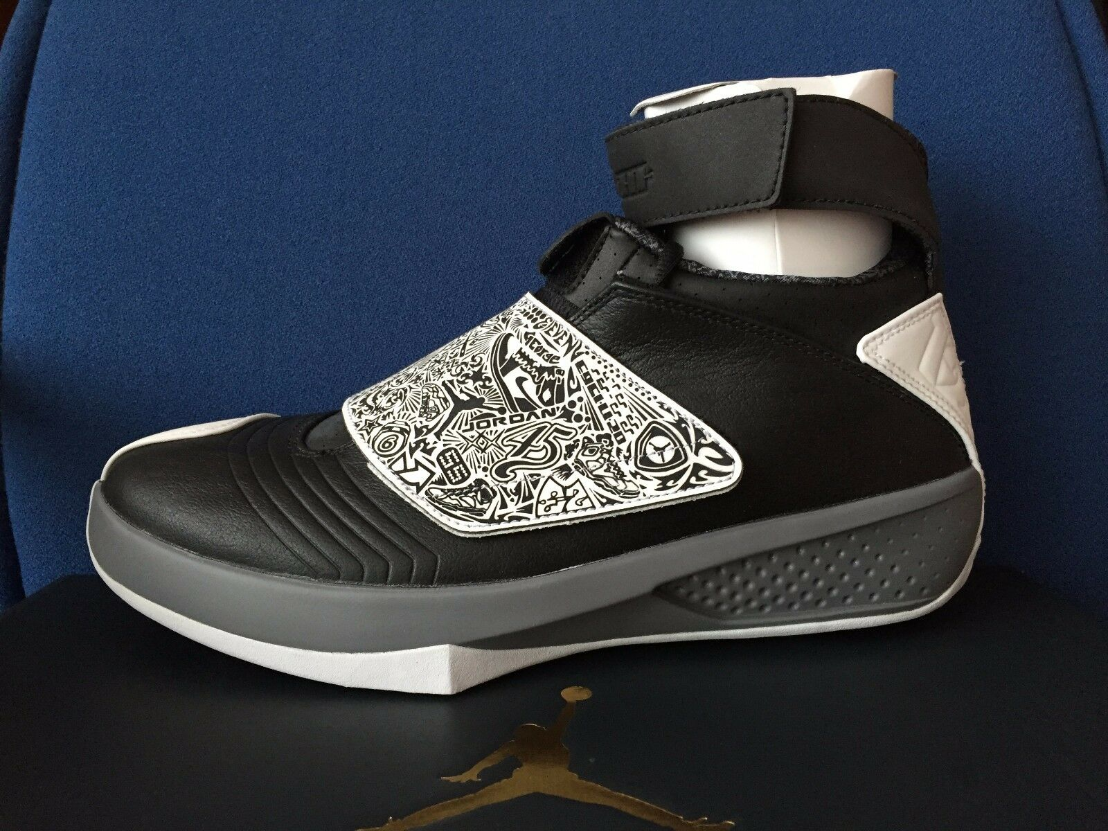 c530540bc6e032 NIKE AIR JORDAN 20 XX OREO sz 10.5 10.5 10.5 BLACK WHITE COOL GREY PLAYOFF  wing