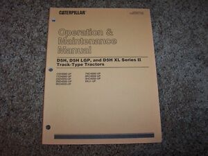 Caterpillar d5h track-type tractor operation & maintenance manual.
