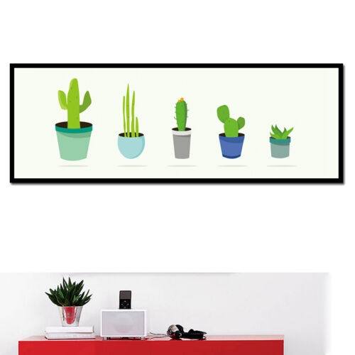 Cactus Plants Canvas Poster Nordic Abstract Art Painting Modern Home Decor