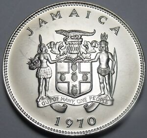 Learned Jamaica 20 Cents 1970 Gem Unc~rare~mahoe Trees~only 5,000 Minted A Wide Selection Of Colours And Designs Coins