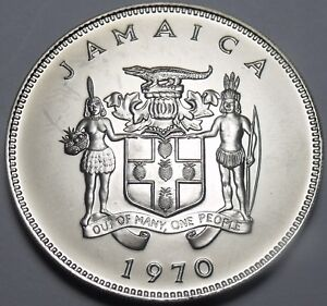 Coins Learned Jamaica 20 Cents 1970 Gem Unc~rare~mahoe Trees~only 5,000 Minted A Wide Selection Of Colours And Designs