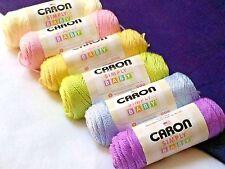 NEW Caron Simply Soft BABY Yarn  AFGHAN 6 Pack 6 - 3.5 oz Skeins Pastels