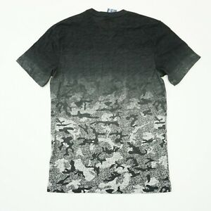 American-Rag-Mens-Tee-Printed-Ombre-Camouflage-T-Shirt-Black-Gray-Grey-Camo
