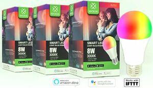 3x-WOOX-R4553-Smart-Lampe-E27-8W-entspricht-60W-2-4GHz-WLAN-Alexa-Google-Home