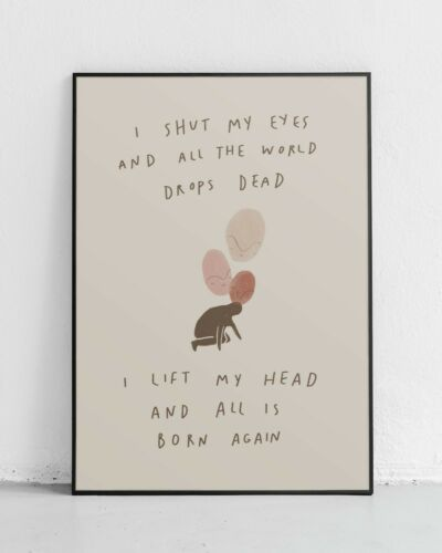 ted hughes poetry The Bell Jar The Colossus Ariel Sylvia Plath Quote Print