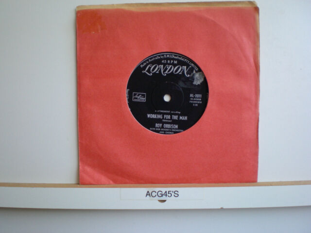 45 Vinyl Record Roy Orbison Working For The Man