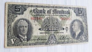 1938-Bank-of-Montreal-5-Five-Dollar-Banknote