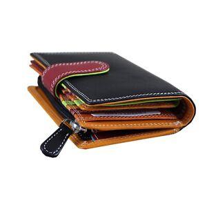 Portafoglio-Donna-Multicolore-Borsetta-per-le-Donne-Nappa-RFID-amp-Borsa-Regalo