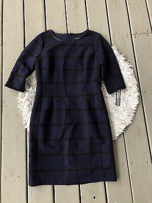 Levine Women/'s Plus SZ Plaid Dress W// Detail on Sleeve and Tahari by Arthur S