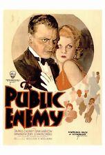 THE PUBLIC ENEMY Movie POSTER 27x40 James Cagney Edward Woods Leslie Fenton Joan