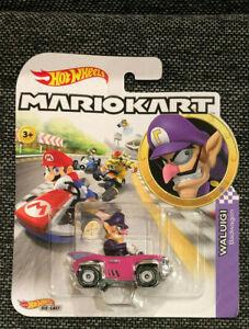 Details About New 2019 Hot Wheels Diecast Mario Kart Waluigi Badwagon Nintendo Htf Rare