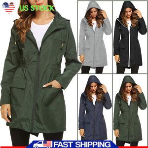 US-Women-039-s-Hooded-Windbreaker-Outdoor-Climbing-Hiking-Jacket-Waterproof-Raincoat