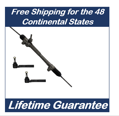 2 New Outer Tie Rod Ends for Mustang 6cyl Power Steering Rack and Pinion