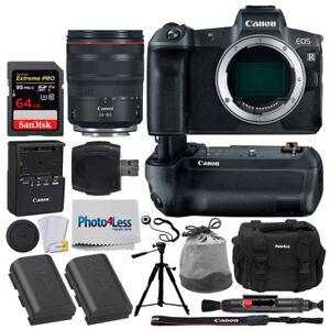 Canon-EOS-R-Mirrorless-Camera-amp-24-105mm-Lens-Canon-BG-E22-Battery-Battery