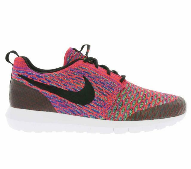 SALE NIKE ROSHE NM FLYKNIT SE MULTICOLOR BRIGHT CRIMSON BLACK WHITE 816531 600