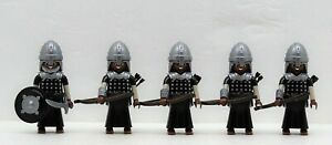 5 X Sarazene Archer Playmobil Chat Persan Vs.croisé Crusader Romain Nubier