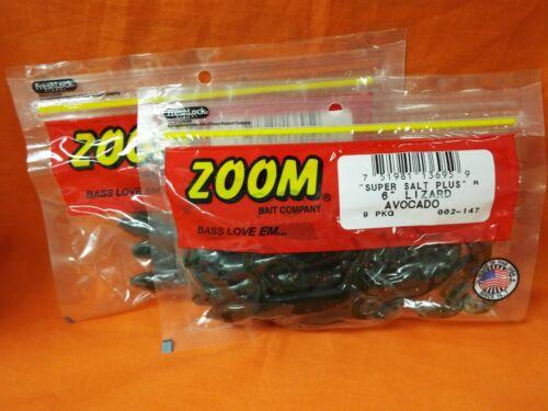 "2 PCKS 9cnt//18TTL ZOOM 6/"" Lizard #002-147 AVOCADO"