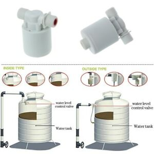 1Pc Automatic Water Level Control Valve Tower Tank Floating Ball Valve White