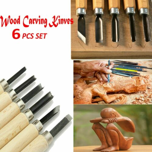 5 Pcs Wood Carving  Kit Woodworking Whittling Cutter Chip Hand Tool Cut