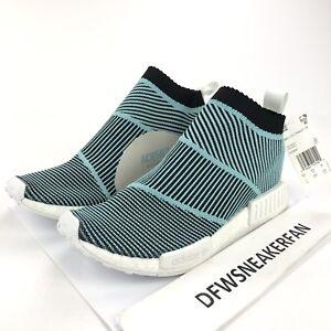 3036c41c1 Adidas NMD CS1 Parley Men s 10 Primeknit Sneaker Blue White Black ...
