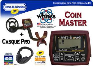 Detecteur-de-metaux-NEUF-White-039-s-CoinMaster-Casque-audio-Pro-Garantie-2-ans