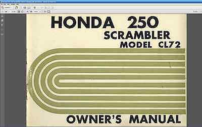 honda cl72 250 scrambler owners manual pdf driver's maintenance