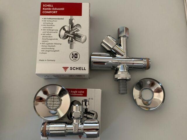 "SET Schell Kombi-Eckventil + Eckventil Comfort 9/9"" selbstdichtend"