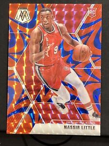 2019-20 Panini Mosaic Red Blue Reactive Prizm RC Nassir Little Rookie # 247 🔥