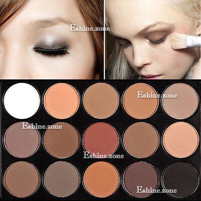 15 Color Makeup Matte Eye Shadow Warm Palette Matt Eyeshadow Neutral Nude  Smoky
