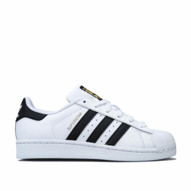 LadiesGirls Adidas BlackWhite Ortholite Superstar Trainers UK Size 4 | eBay