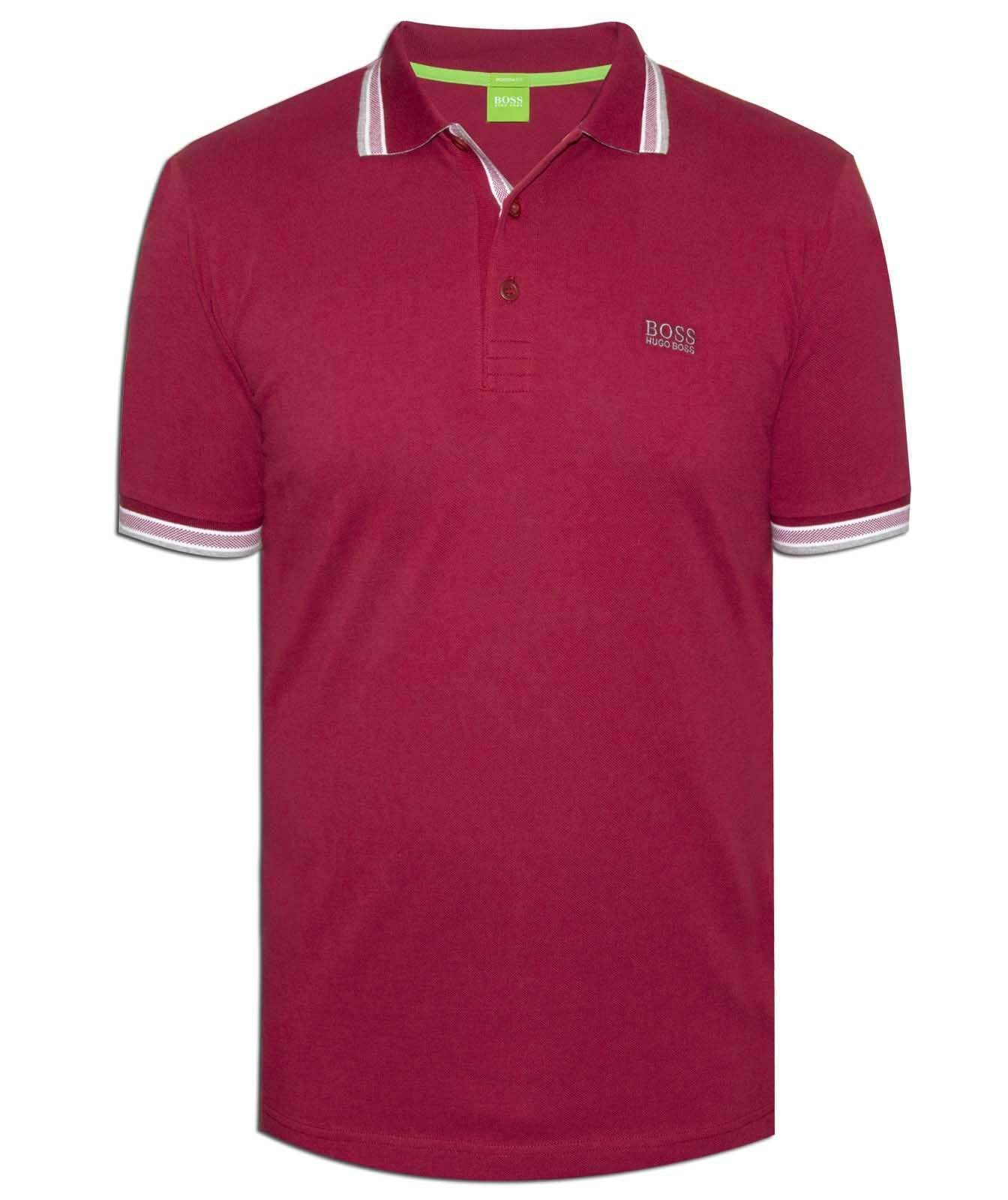 New Hugo BOSS AG Green Polo shirt in Maroon cotton piqué Paddy 50198254 Germany