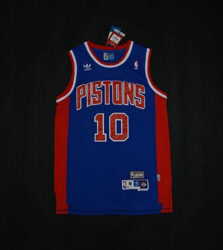 XXL S Detroit Pistons #10 Dennis Rodman Blue Basketball Jersey Size