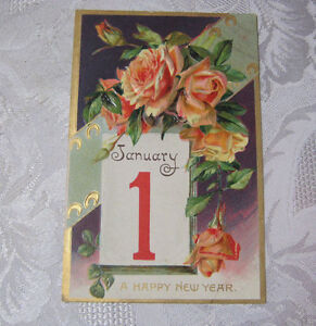 A-HAPPY-NEW-YEAR-ANTIQUE-EMBOSSED-POSTCARD-T