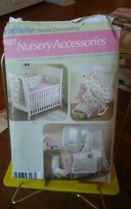 Oop-Home-Decorating-Simplicity-4627-nursery-linens-quilt-curtains-canopy-NEW