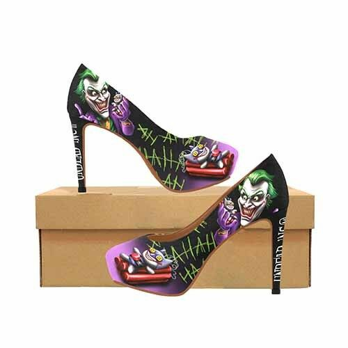 Joker Bat Bomb Women's Platform Platform Women's High Heels Dc Comics Batman 79c52d