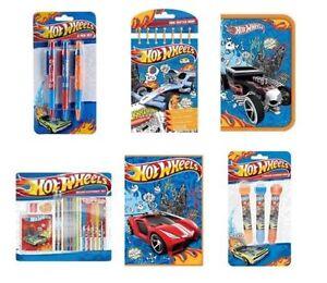 Hot Wheels Papeterie / Sets (Crayon / Effaceur / Latte/Colorer / Cadeau de Noël)