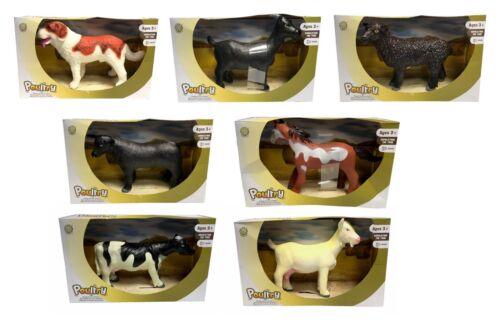 GIOCO Grandi per Bambini ANIMALI DA FATTORIA Suono Giocattolo Educativo Mucca Cavallo Pecora