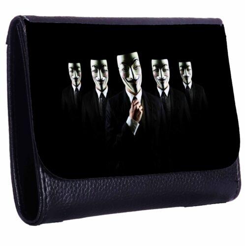 Anonymous Tri-Fold Wallet w// Button Pocket