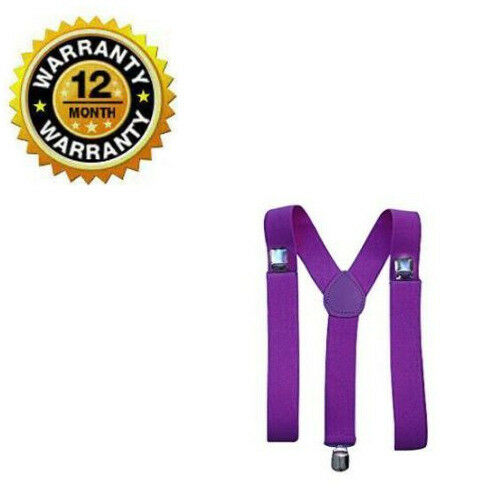 Suspenders For Men New Adjustable Purple Back Y Style Comfort Clip On Suspenders