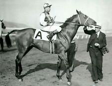 Georgie Woolf aboard the mighty Seabiscuit 10x8 Photo