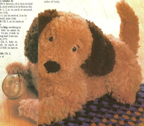 Puppy Dog Toy /& Tissue Cover crochet PATTERN INSTRUCTIONS
