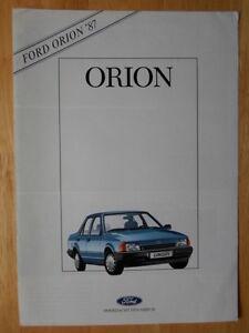 FORD Orion Range 1987 Dutch Mkt sales brochure