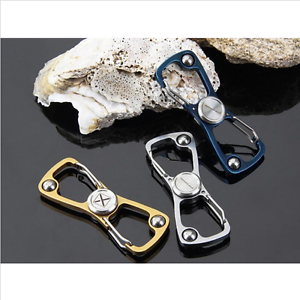 Stainless Steel Spinner Fidget Finger Spin Stress Hand Desk Toy ADHD Key Chain