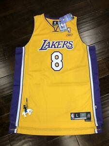 Reebok Kobe Bryant Jersey Lakers Gold #8 DS Sz:L | eBay