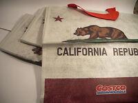 Three Costco 16x16 Reusable Grocery School Shopping Travel Bag Canvas Vinyl Cal